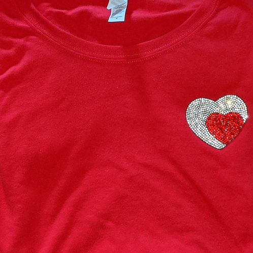 Two Hearts Tee - Red