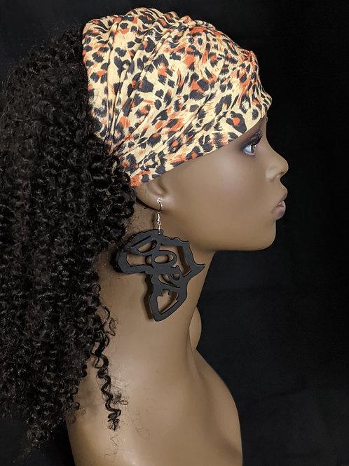 """""""Dope"""" Africa Wooden Earrings"""