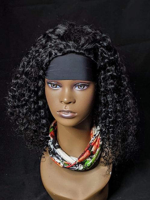 Headband  Wig -  Brazilian Kinky - 18 inches