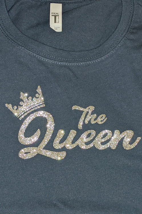 Silver Queen Glitter - Navy Blue