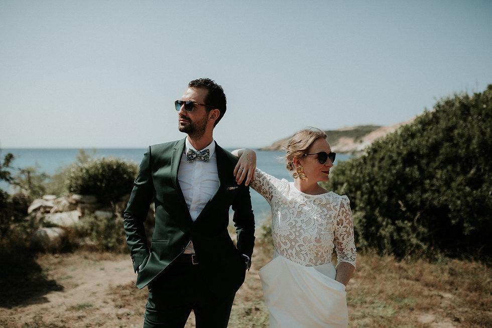 photographe et vidéaste mariage simple et cool en corse au u nichjaretu à calvi