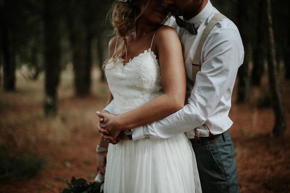 photo couple mariage foret var