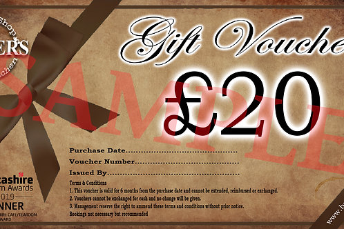 £20 Monetary Gift Card