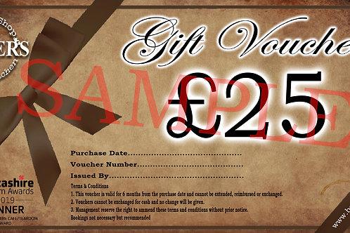 £25 Monetary Gift Card