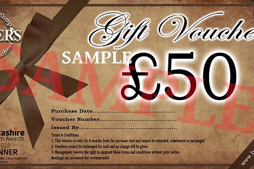 £50 Monetary Gift Card