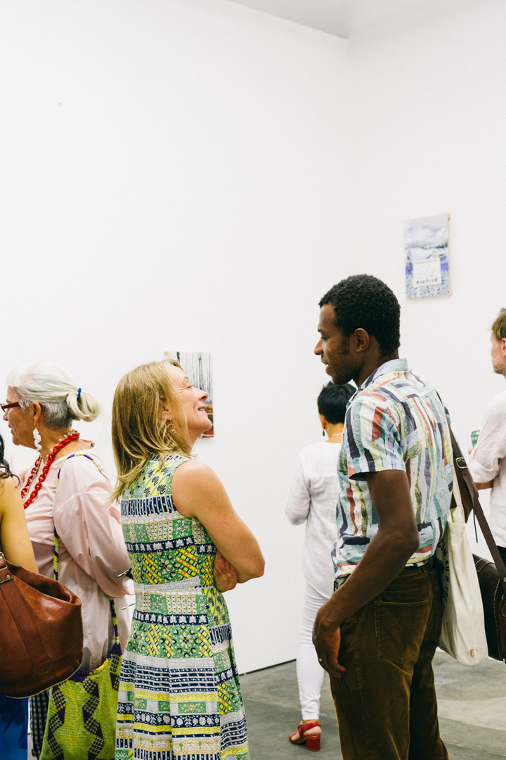 Sam Harrison 'Summer' 2020. Opening event. Photo: Charlie Hillhouse.