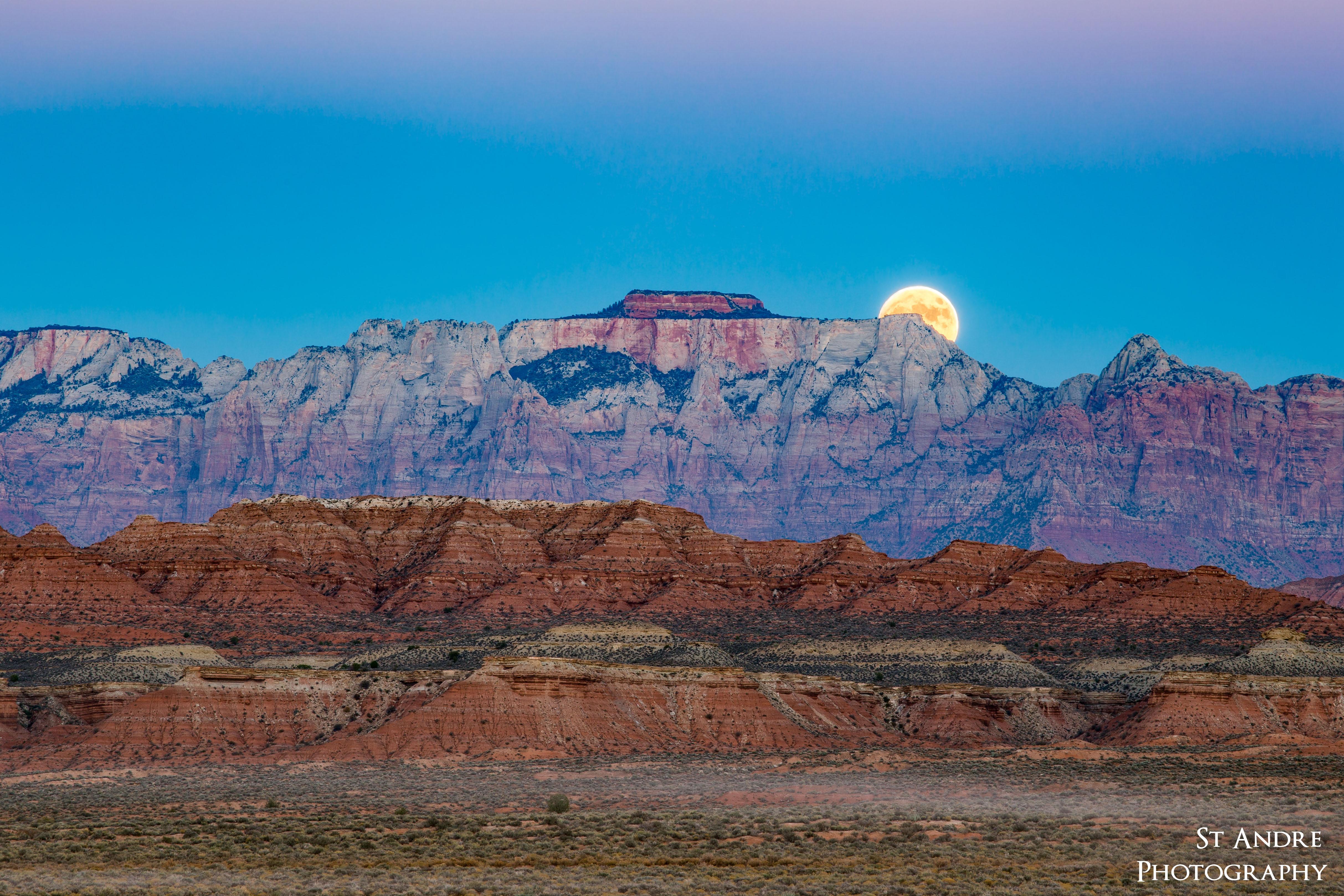 Super Moon Over Zion