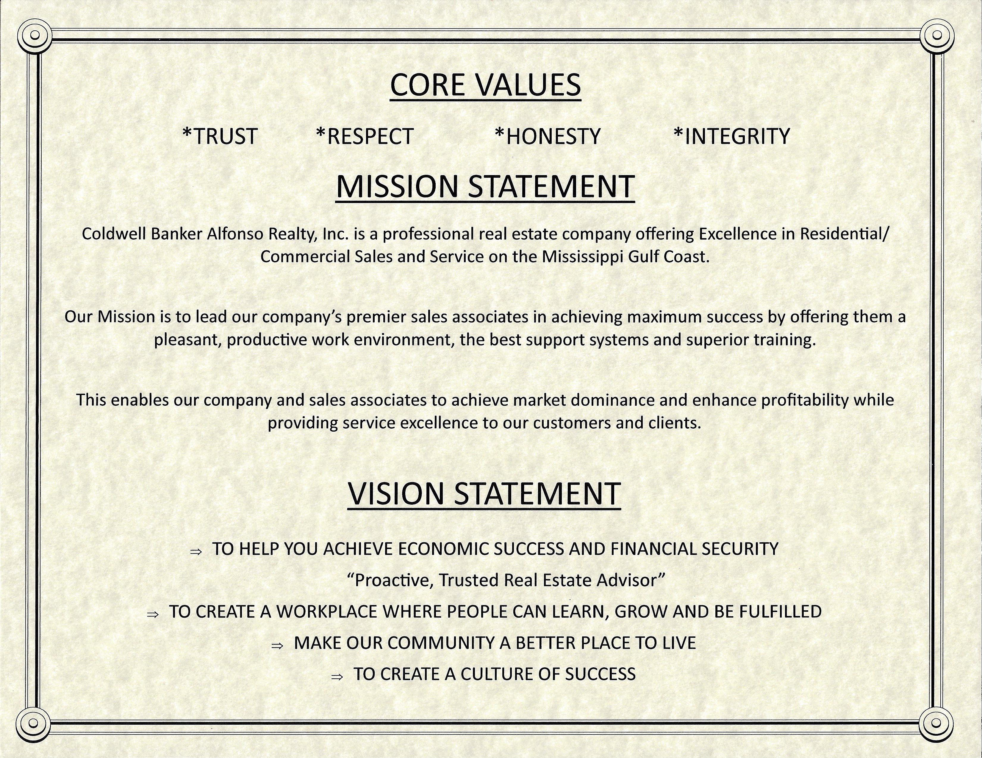 CB Alfonso's Mission Statement