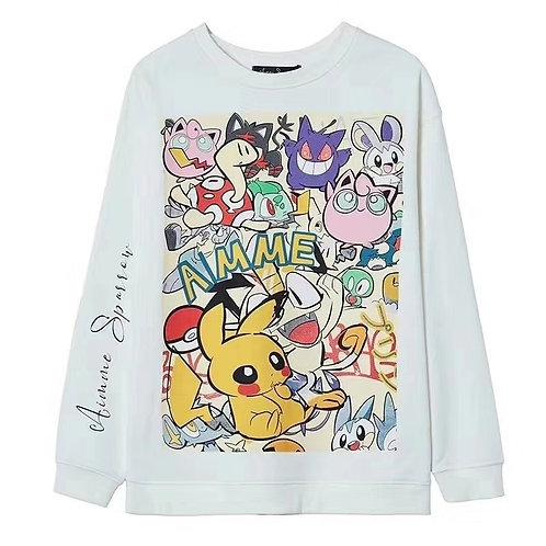 Aimme Sparrow 2020ss Anime-Print Sweater
