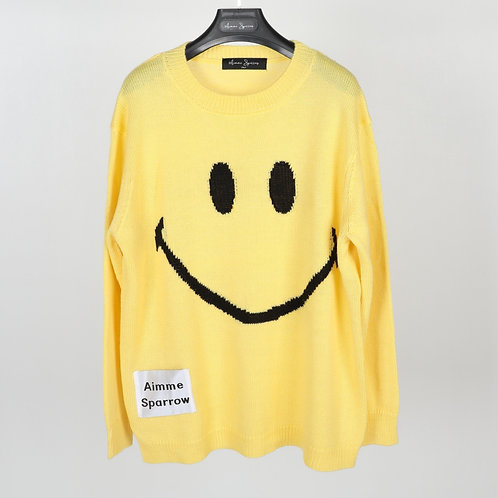 Aimme Sparrow 2020ss Smiley Sweater