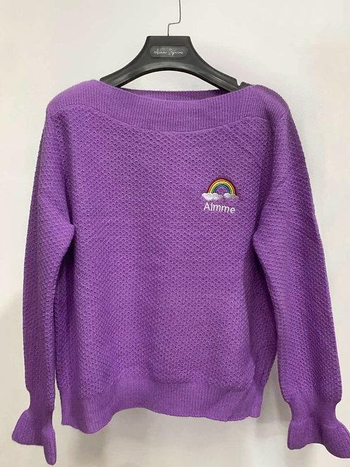 Aimme Sparrow 2020ss Rainbow Logo Sweater