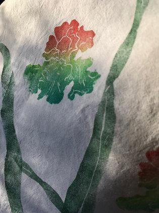 'mystery ink' iris cotton towel