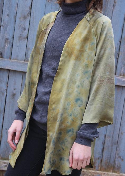 olive & burnt orange shawl
