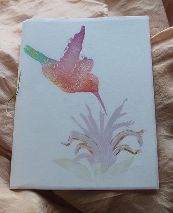 hummingbird & beebalm