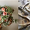 Thumbnail: window box farm bridal bouquet & memory scarf