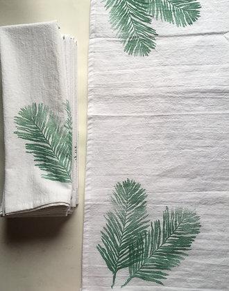 palm fern cotton towel