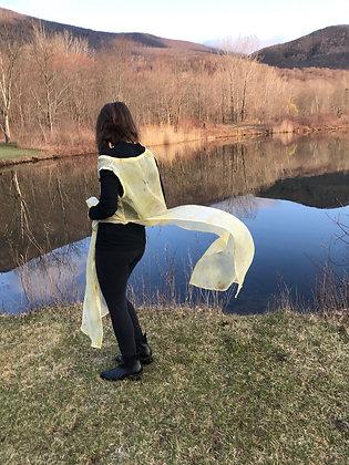 golden bundle semi sheer silk organza cover up