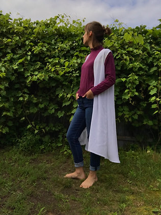 made to order: silk crepe vest