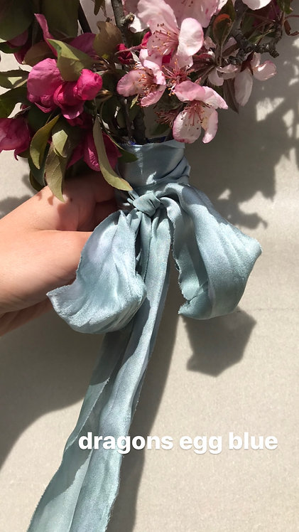 hand dyed silk ribbons