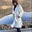 Thumbnail: iris print silk robe
