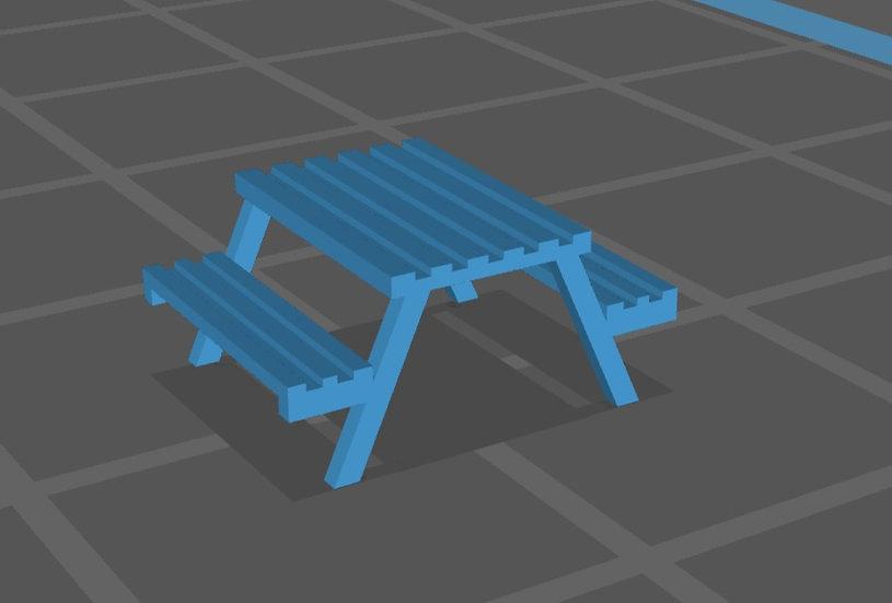 【3Dデータ】テーブルベンチ