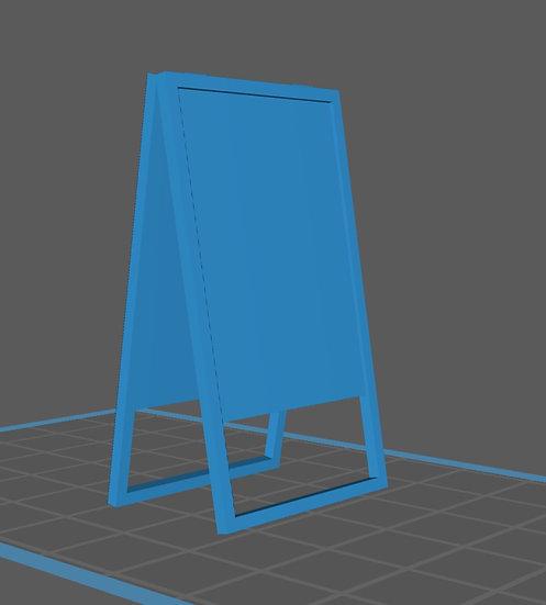 【3Dデータ】cafe看板 二つ折り