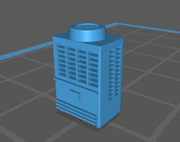 【3Dデータ】情景小物 ビル屋上室外機 A