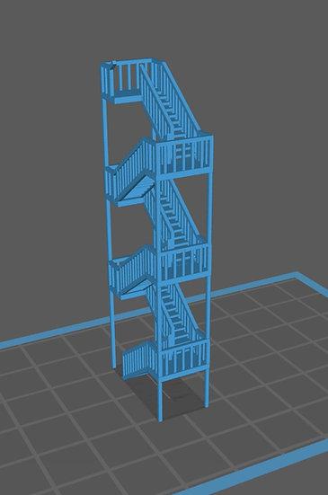【Nゲージ用】情景小物 階段(4階分)