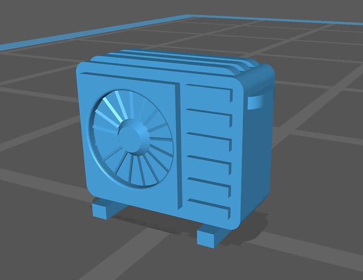 【3Dデータ】情景小物 家庭用エアコン室外機