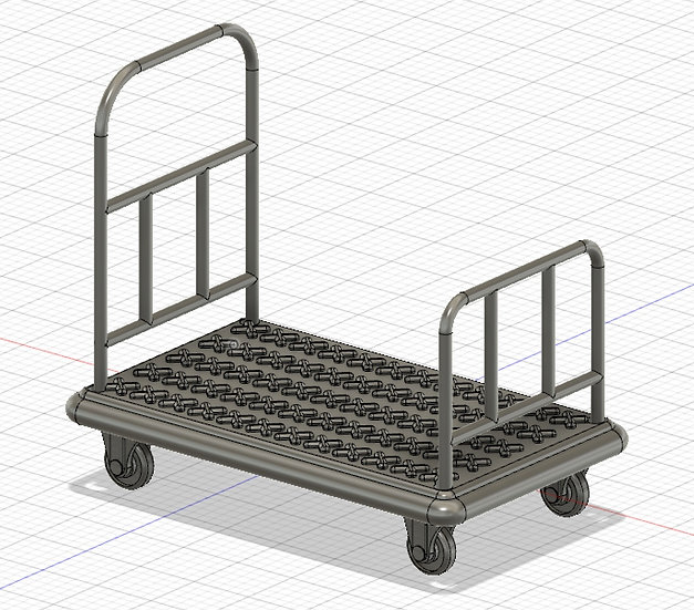 【3Dデータ】ホテル台車 1/24サイズ