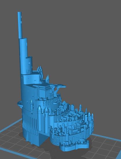 【3Dデータ】断崖の王都