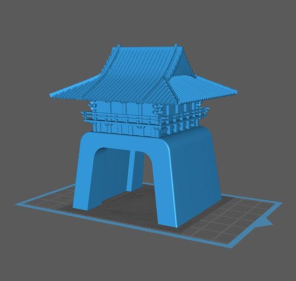 【3Dデータ】江ノ島神社風ストラクチャー