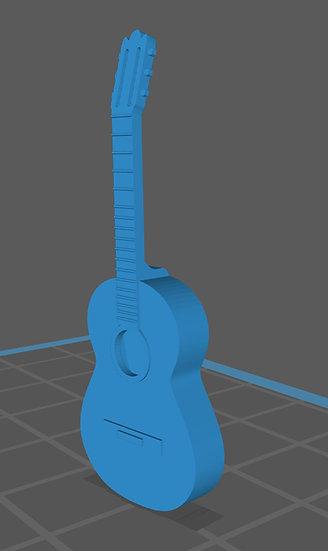 【3Dデータ】アコースティックギター 1/24サイズ