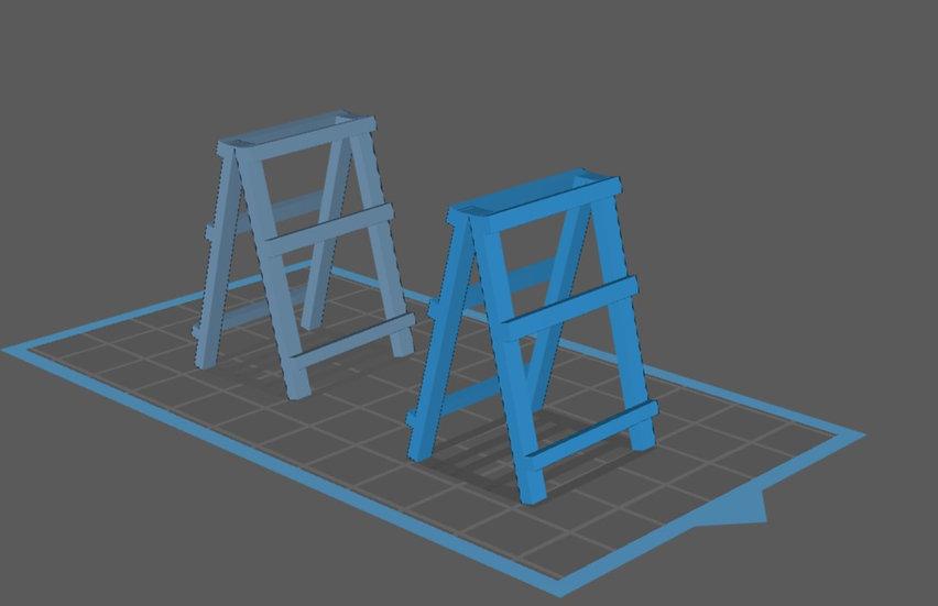 【3Dデータ】折りたたみテーブルレッグ 1/24サイズ