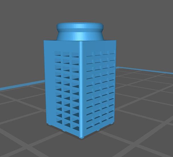【3Dデータ】情景小物 ビル屋上室外機 B