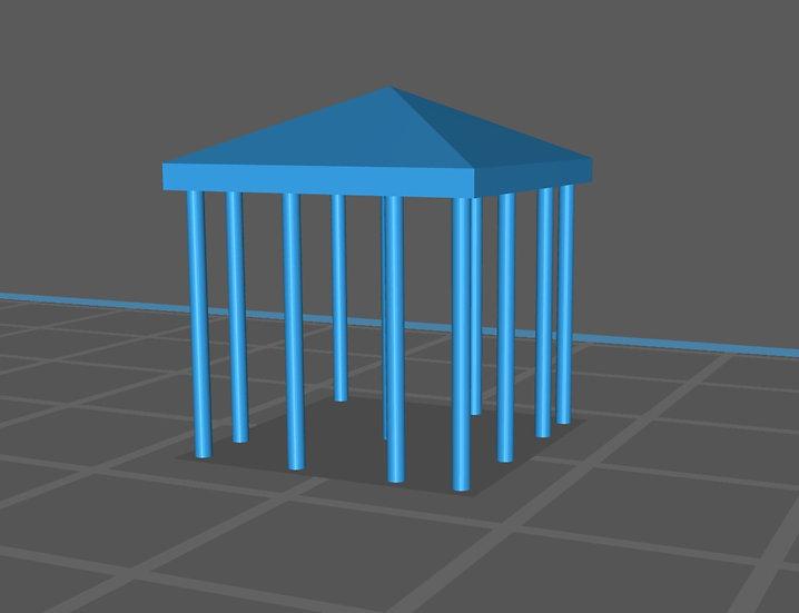 【3Dデータ】情景小物 四角テント
