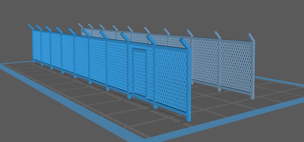 【3Dデータ】フェンス (金網グリーンフェンス)
