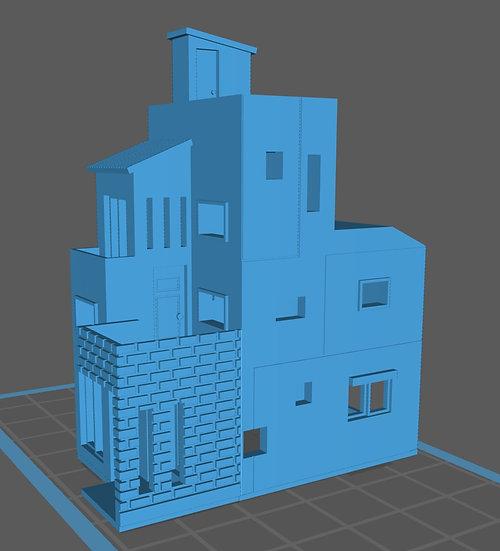 【3Dデータ】三階建て デザイナーズハウス