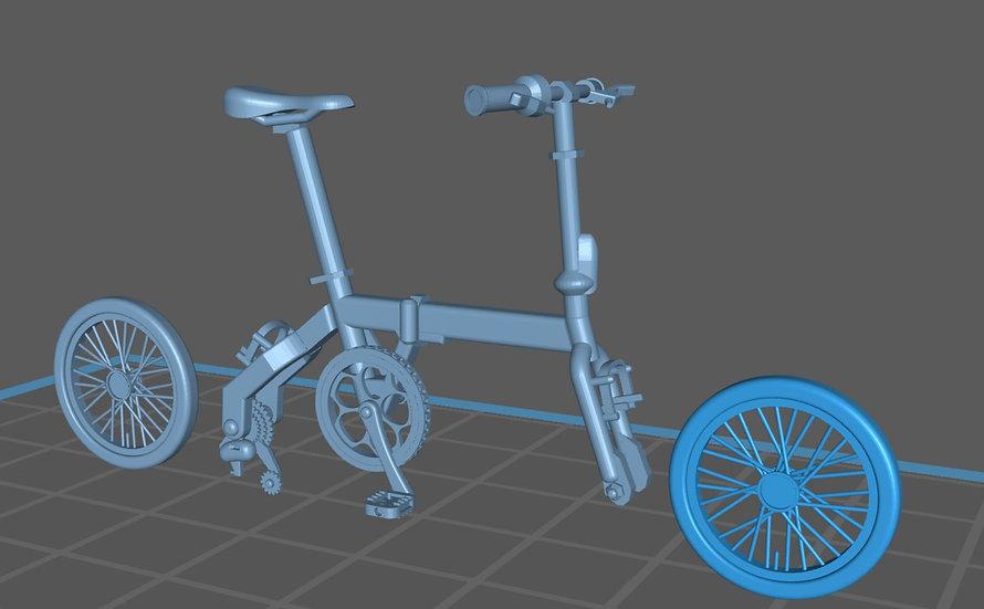 【3Dデータ】折りたたみ自転車 1/24サイズ