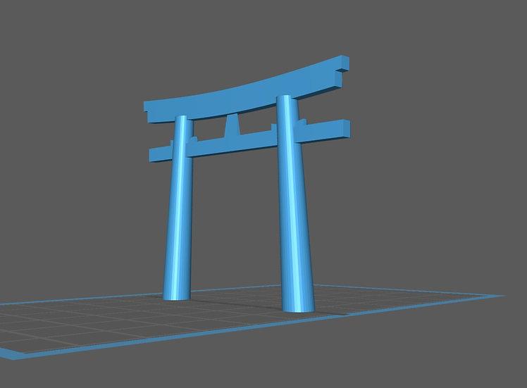【3Dデータ】情景小物 神社鳥居