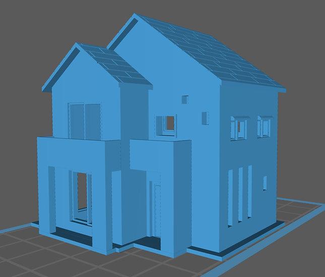 【3Dデータ】二階建て 現代住宅