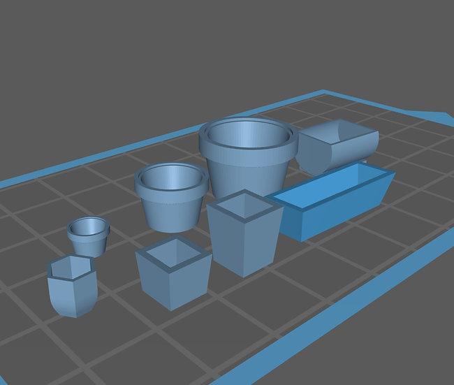 【3Dデータ】プランターセット 1/24サイズ