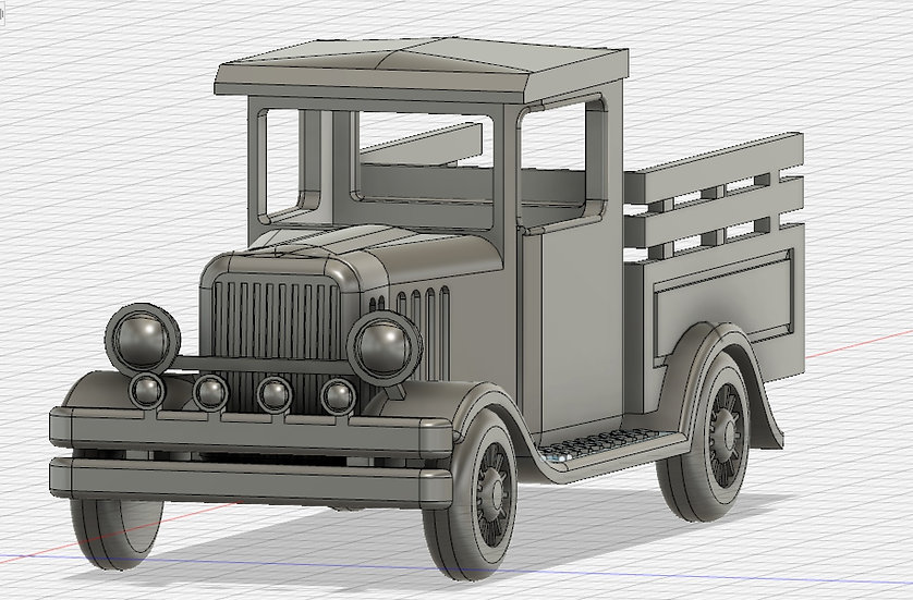 【3Dデータ】ビンテージ トラック