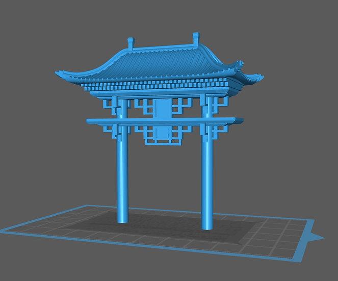 【3Dデータ】情景小物 中華 鳥居