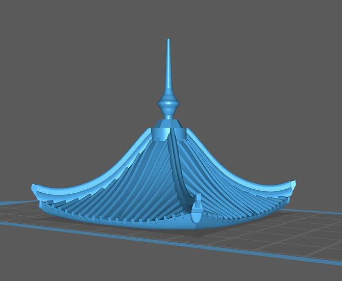 【3Dデータ】建物パーツ 瓦屋根 C