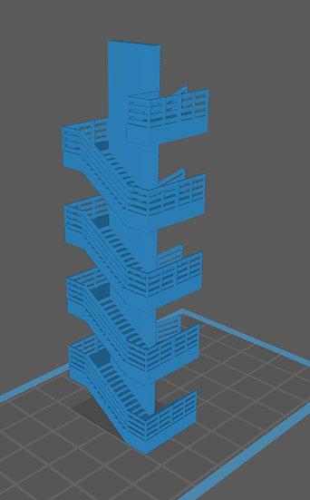 【3Dデータ】マンション階段 五階建て用