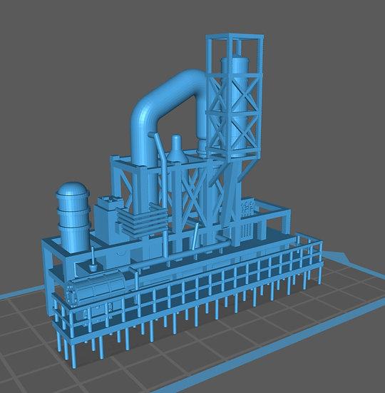 【3Dデータ】工場 プラント E