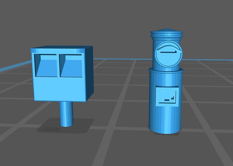 【3Dデータ】情景小物 郵便ポスト2種