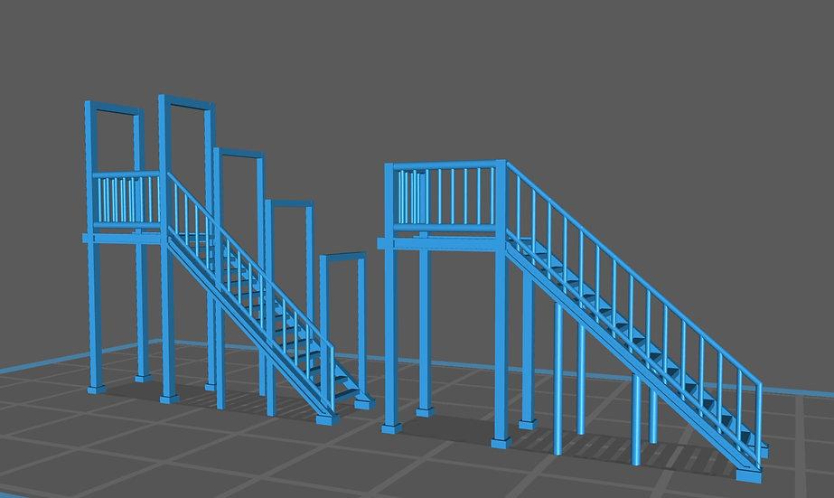 【3Dデータ】情景小物 階段(高さ17㎜)