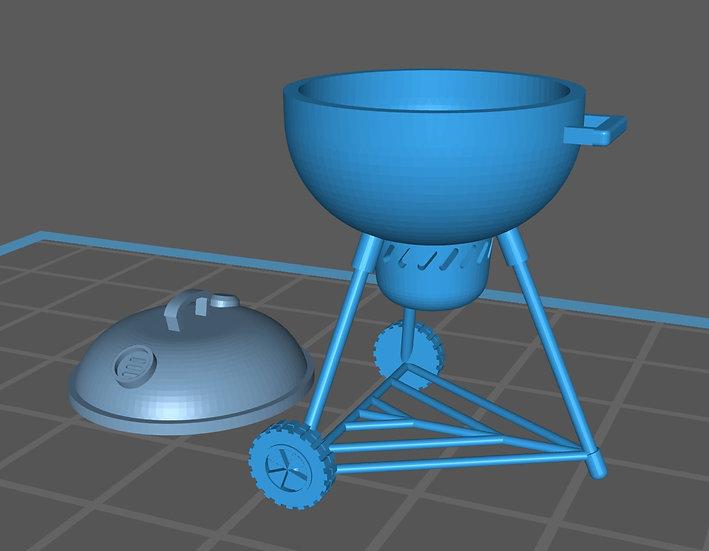 【3Dデータ】BBQグリル 1/24サイズ